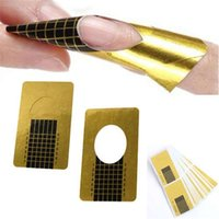 Nail Form acrylic nail forms - 500 x Golden Nail Art Tips Extension Forms Guide French DIY Tool Acrylic UV Gel DHL