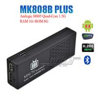 android dongle xbmc - 100pcs Original MK808B Plus Android HDMI TV Stick TV Dongle Amlogic M805 Quad Core GB GB Mini PC Bluetooth XBMC Miracast DLNA V893