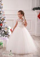 children party dresses - Lace Rhinestone Tutu Ivory Lovely Baby Girl Birthday Party Christmas Princess Dresses Children Girl Party Dresses Flower Girl Dresses