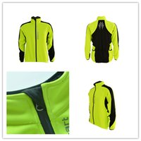 fleece clothing - Thermal Cycling Jacket Cycling Jacket Unisex New Breathable Windproof Warm Fleece Riding Clothes Bicycle Long Sleeve Shirts Gear Green Winte