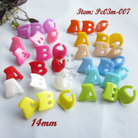 abc signs - 120pcs Alphabet buttons Mixed colors ABC kids buttons shank ABC signs kid s sewing crafts and decoration accessories