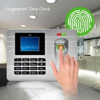 Wholesale car Inch TFT Screen Silver Biometric Fingerprint Attendance Time Clock Recorder Employee Digital Electronic Machine PTSP