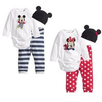 Wholesale Mickey Minnie Mouse Baby Infant Girl Boy Outfits Cotton Jumpsuit Climbing M