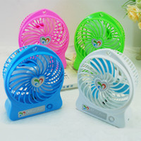 Wholesale Cheap Portable MINI Fan USB Charging With Battery Fans Strong Power Wind Cooller Colorful Small Fan Free DHL