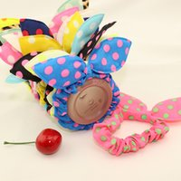 rabbits for sale - 2015 summer rabbit ears hair accessories hair holder girls head flower for sale