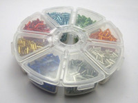 Cheap 2000 Mixed Silver-Lined Color Glass Tube Bugle Seed Beads 2X7mm + Storage Box