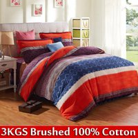 Cheap [Flower Gift] 100 cotton king bed sheets luxury brand designer comforters and bedding sets 4pcs european duvet cover set