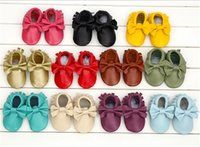 Wholesale Baby Leather Shoes Baby Shoes Genuine Leather New Newborn Baby Prewalkers Shoes Boy Girls Infant Toddler Moccasins Soft Moccs First Walkers