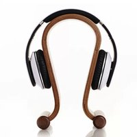 Wholesale New Arrival Wooden Omega Headphone Display Stand Stands Headphones Holder Headset Hanger for Brand headset headsets mate
