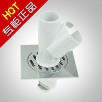 Wholesale Washing machine floor drain copper core anti odor floor drain hf light chrome order lt no track