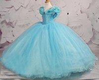 angels hand - Custom Light Blue Little Girls Pageant Dress For Teens Organza Cupcake Perfect Angels Kids Flower Girl Bridesmaids Cinderella Ball Gowns