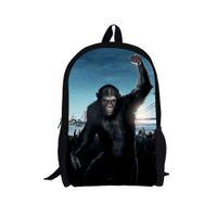 ape boy - Dawn of the Planet of the Apes Backpack Men s Camping Backpack Orangutan Printing Backpacks Boys Monkey Bags Children School Bag