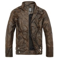 best bomber jackets - Fall Best Quality Men s leather Jacket Men leather Jaqueta Couro Masculino Bomber Biker leather Jackets For Men Skin Jacket Coat