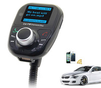 Wholesale Wireless Bluetooth LCD Car Kit MP3 Player FM Transmitter USB SD Card Digital Remote Rontrol Black
