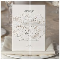 beautiful blank - Flowers Hollow Wedding Invitations White Beautiful Wedding Invite Card Free Elegant Party Invites Cards And Suppliers Blank Inner Top Sale