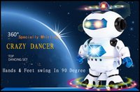 Wholesale 2016 New Arrival Robot Toys For Children Gifts Electronical Dancing Space Robot Activity Amusement Toys Music Christmas Toy DHL