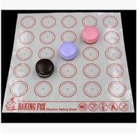 Wholesale 27 cm Macaron Baking Sheet Silicone Baking Mat Non Stick Silicone Macarons Baking Sheet Mats Bakeware Kitchen Tools