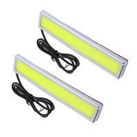 Wholesale Universal W Super Bright COB LED Car DRL Daytime Running Lights Waterproof Ultra thin Chips Led Fog Lamp K