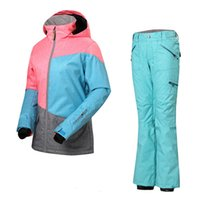 Wholesale newest ski suits women s jacket pants snowboard clothes skiing jackets Sports Waterproof Windproof Breathable