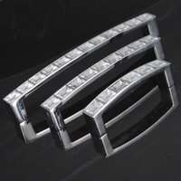 Cheap Gold Plated Glass Modern Style Kitchen Cupboard Bar Furniture Door Drawer Pull Handle Square Knob L M S