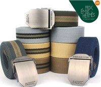 western belt wholesale - NOS Men Canvas Outdoor Belt Military Equipment Cinturon Western Strap Men s Belts Luxury For Men Tactical Brand Cintos