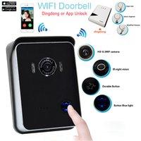 wireless door camera - IR Night Wifi Camera Video Intercom Wireless Video Door Phone Wifi Doorbell Degree Angle with Dingdong Unlock Kdoor6