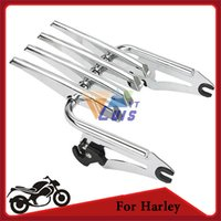 Wholesale Universal Motorcycle Luggage Rack Stealth Detachable Touring Bike Luggage Carrier Support Chrome For Harley Davidson order lt no track