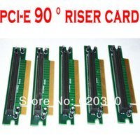 Wholesale PCI Express X PCI E riser card degree turn card PCI E converter card Protector Extender order lt no track