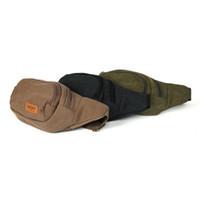 Wholesale 2015 New Fashion Color Men Vintage Canvas Waist One Strap Durable Belt Bag Hiking Pack Chest Sports Bag WI52