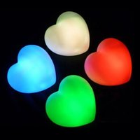 Wholesale Tanabata Romantic Heart shaped Night Light Colour Changing Love Heart Light LED Decorative Lights Color lights Christmas Gifts DHL Free