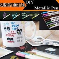 Wholesale Colorful Metallic Pen DIY Tools Paint Pens Permanent Waterproof Oil Marker Color Pen for wedding party Glass Car Photo Album