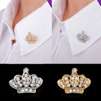 fashion rhinestone crown - Fashion European Style Women Rhinestone Wedding Party Brooches Pins Elegant Crown Brooches Pins Colors Choose XZ0006