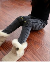 black jeans - Winter children pants new style girls add wool black jeans girls add wool black jeans kids casual cowboy pants SM932