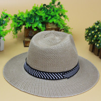 Wholesale 2015 Adult Summer Jazz Hat Tide Male Korean Version of Spring Beach Hat Sun Shade Fedoras