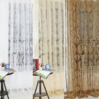 Wholesale Vogue Flower Tulle Window Screens Decor Balcony Curtain Panel Sheer Scarfs