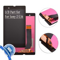 Wholesale 1piece for Sony Z Xperia L36 L36H Original Quality OEM Grade LCD Touch Screen Replacements Complete Assembly Part