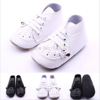 bell leather shoes - New PU Leather Solid Color Newborn Baby First Walkers Shoes Toddler Baby Sports Soft Soled Anti slip Small Bell Sneakers Shoes