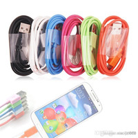 Wholesale 1M FT micro usb cable for galaxy S3 s4 z10 blackberry HTC etc adapter cord M FT micro usb data sync charger JBD XC