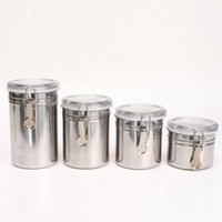 bean container - 4 Size Metal Storage Food Bottles Sugar Tea Coffee Beans Canisters snack Cans Kitchen Container Tools