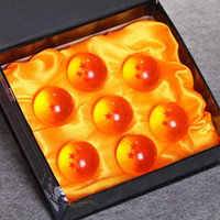 Wholesale New set toy Dragonball Z Stars toys dragon ball Natural Resin Ball with Gift Box ZGG15