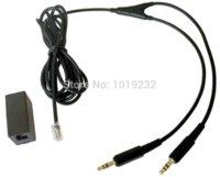 adaptor jack usb - Headset Buddy adapter RJ9 modular jack for Phone Headset to Dual mm Male headset adapter phone adaptor PC Skype