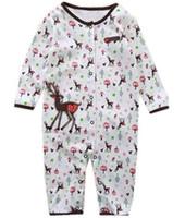 baby toddler sleepwear underwear - Christmas Baby Rompers Pajamas Babywear X mas Deer Sleepwear Overalls Toddler Underwear W123