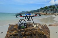Vente en gros-SkyhawkRC F700 Hexacopter Fibre de carbone RTF radiocommande UAV drone photographie aérienne Quadcopter cadre aérodromage multirotor