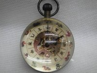 antique brass clock - china collection Work CHINESE archaize BRASS GLASS pocket watch BALL clock