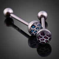 Cheap 6PCS Sexy Leopard Girl Belly Button Ring Tongue Piercing Jewelry NVIE order<$18no track