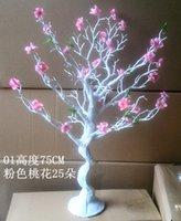 artificial peach tree - The simulation peach tree cm Tall Artificial Statue Tree Garland Chain Wedding decoration tree Celebrations tree