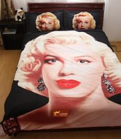 Cheap 3d High Quality digital printing marilyn monroe bedding set queen size bed linen,4 piece bed set HD#30-97