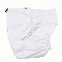 Wholesale PUL Waterproof Washable Reusable Adult Cloth Diaper Cover Adjustable Sizes Incontinence Pants with Layrs Microfiber Inserts