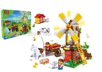 Wholesale Banbao High Quality Farm Windmill Building Blocks Sets Educational DIY Bricks Toys for kids