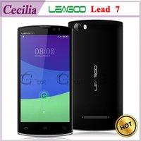 Wholesale 2015 Latest Leagoo Lead Android Cell Phone MTK6582 Quad Core inch HD GB GB MP Presale mAh Smartphone WCDMA MHz